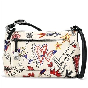 💕BRIGHTON LOVE SCRIBBLE BRIA MESSENGER BAG